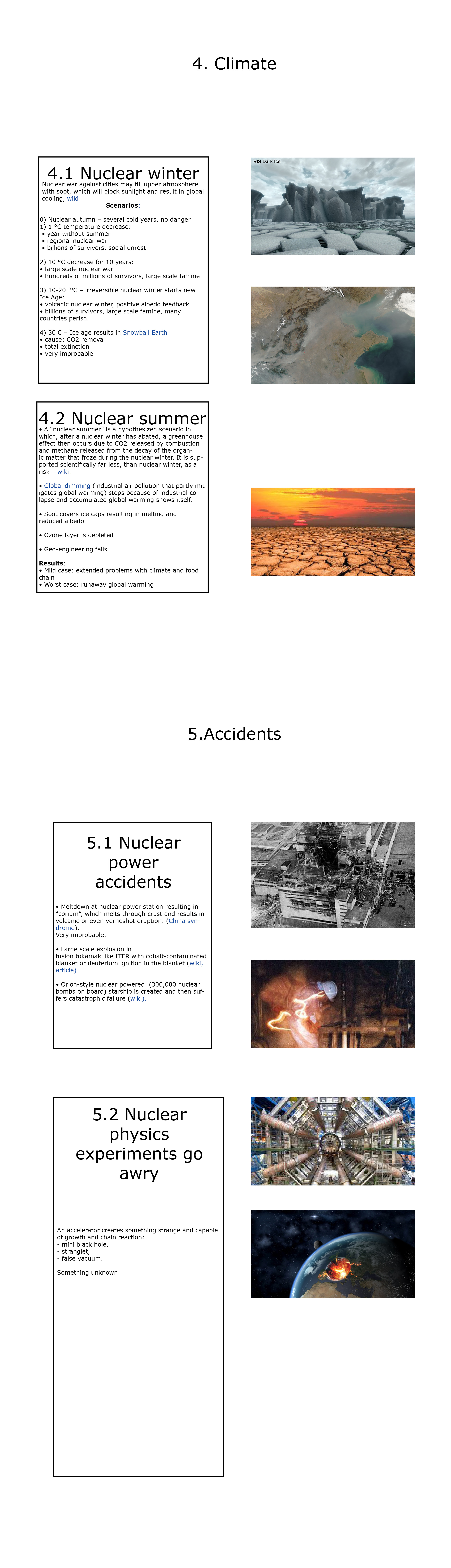 Global catastrophic risks connected with nuclear weapons and